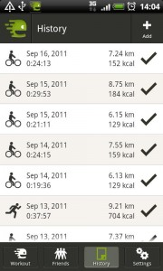 endomondo progress